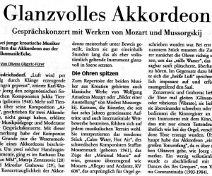 Press - Glanzvolles Akkordeon